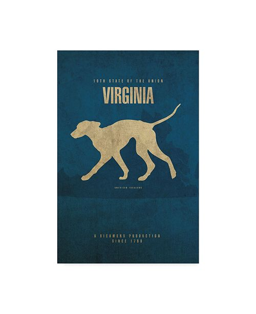 "Trademark Global Red Atlas Designs 'State Animal Virginia' Canvas Art - 22"" x 32"""