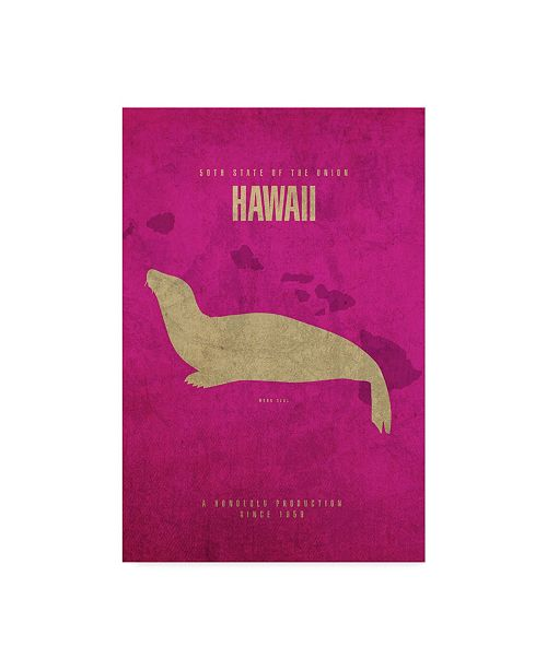"Trademark Global Red Atlas Designs 'State Animal Hawaii' Canvas Art - 12"" x 19"""