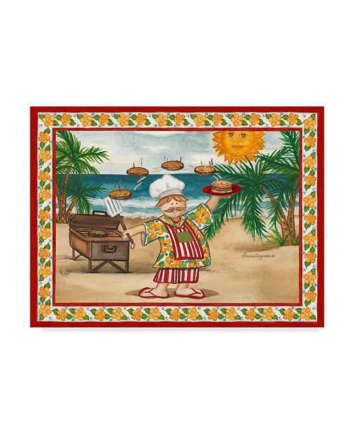 """Trademark Global Laurie Korsgaden 'Sun Over Beach' Canvas Art - 24"""" x 18"""""""