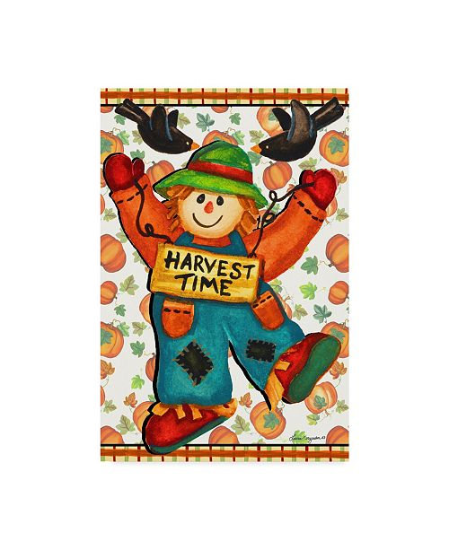"Trademark Global Laurie Korsgaden 'Scarecrow Celebration' Canvas Art - 16"" x 24"""