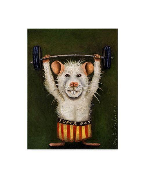 """Trademark Global Leah Saulnier 'Super Rat' Canvas Art - 18"""" x 24"""""""