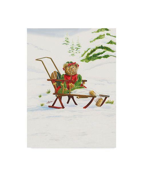 "Trademark Global Mary Irwin 'Bears Sleigh Ride' Canvas Art - 18"" x 24"""