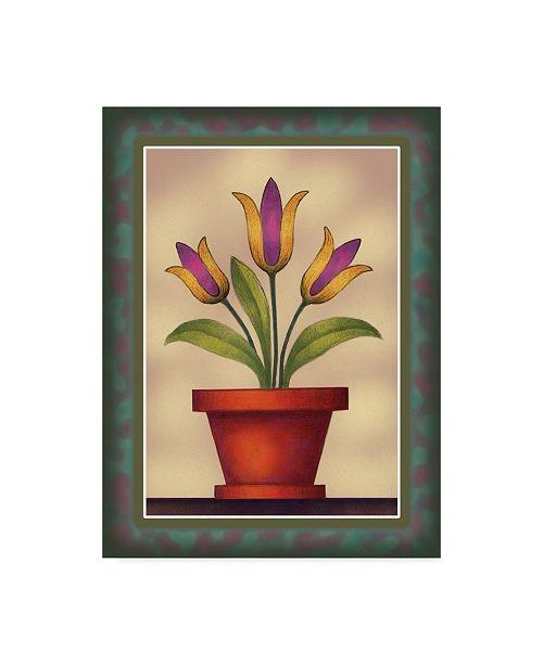 """Trademark Global Margaret Wilson 'Tulips In Vase' Canvas Art - 14"""" x 19"""""""