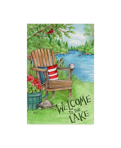 "Trademark Global Melinda Hipsher 'Welcome To The Lake Chair' Canvas Art - 22"" x 32"""