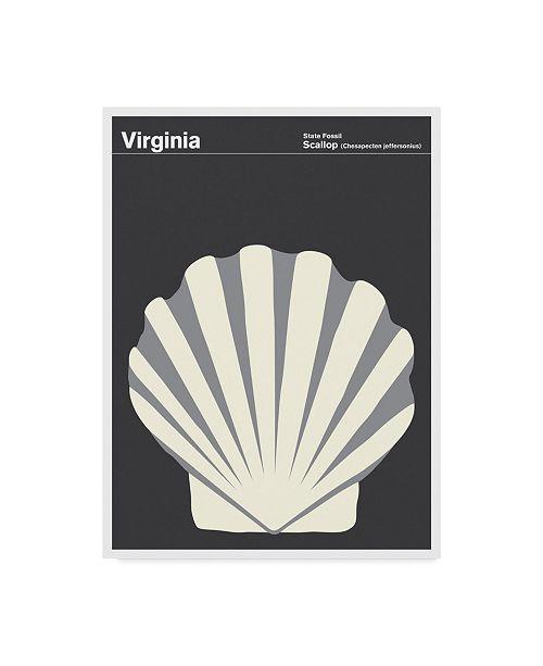 "Trademark Global Print Collection - Artist 'Virginia Scallop' Canvas Art - 14"" x 19"""