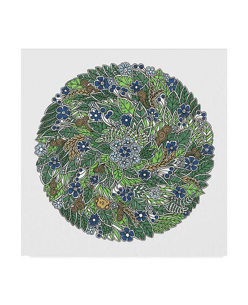 "Trademark Global Nicky Kumar 'Hidden Monkey Colored' Canvas Art - 14"" x 14"""