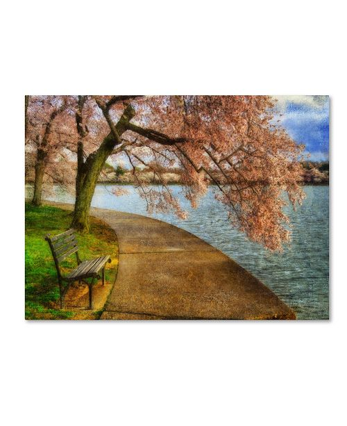 "Trademark Global Lois Bryan 'Meet Me At Our Bench' Canvas Art - 19"" x 14"""