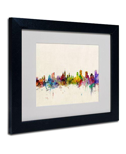 "Trademark Global Michael Tompsett 'Ottawa, Canada' Matted Framed Art - 19"" x 14"""