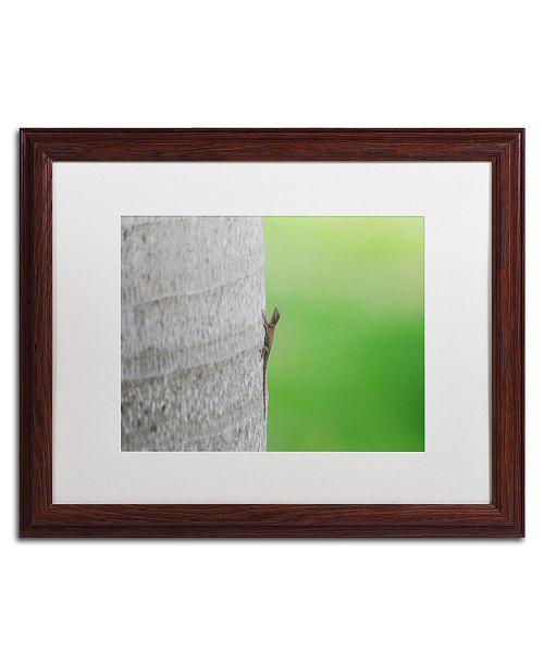 """Trademark Global Monica Mize 'Plucky' Matted Framed Art - 16"""" x 20"""""""