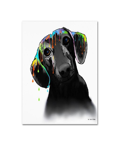 "Trademark Global Marlene Watson 'Dachshund' Canvas Art - 18"" x 24"""
