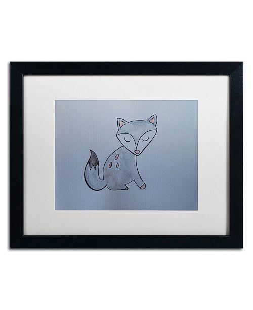 """Trademark Global Nicole Dietz 'Gray Fox' Matted Framed Art - 16"""" x 20"""""""