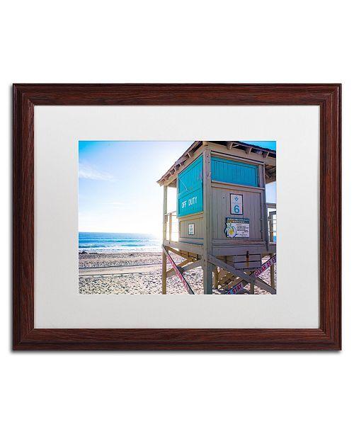 """Trademark Global Preston 'Florida Beach Guard' Matted Framed Art - 16"""" x 20"""""""
