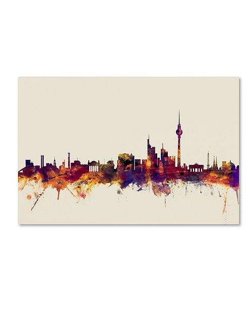 "Trademark Global Michael Tompsett 'Berlin Germany Skyline IV' Canvas Art - 16"" x 24"""