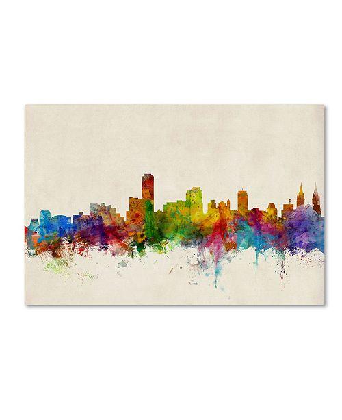 """Trademark Global Michael Tompsett 'Adelaide Australia Skyline' Canvas Art - 16"""" x 24"""""""