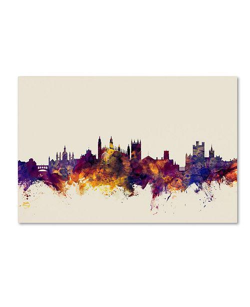 "Trademark Global Michael Tompsett 'Cambridge England Skyline' Canvas Art - 22"" x 32"""