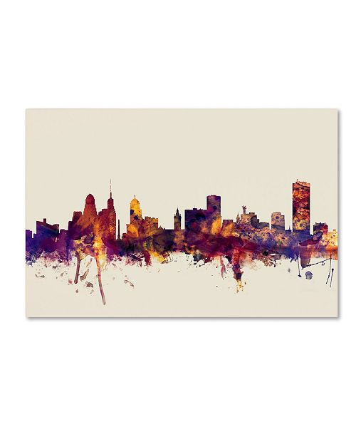 "Trademark Global Michael Tompsett 'Buffalo New York Skyline' Canvas Art - 22"" x 32"""