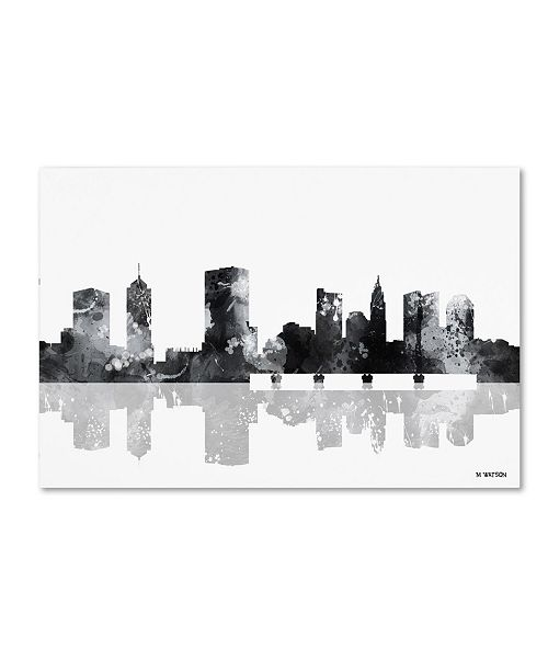 "Trademark Global Marlene Watson 'Columbus Ohio Skyline BG-1' Canvas Art - 30"" x 47"""