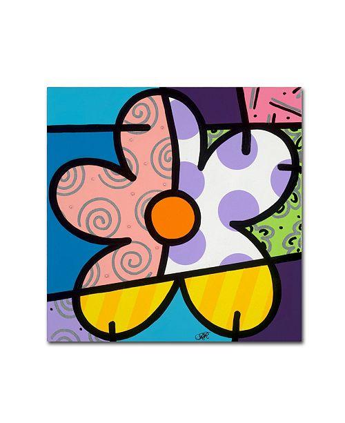 "Trademark Global Roberto Rafael 'Big Flower IV' Canvas Art - 35"" x 35"""