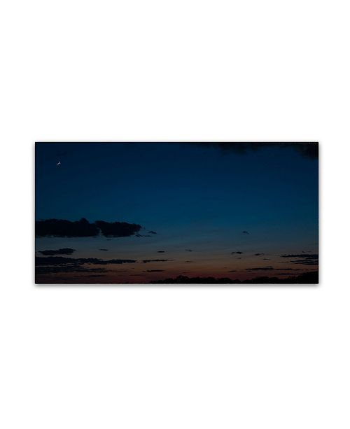 "Trademark Global Kurt Shaffer 'Sunset Crescent Moon' Canvas Art - 24"" x 47"""