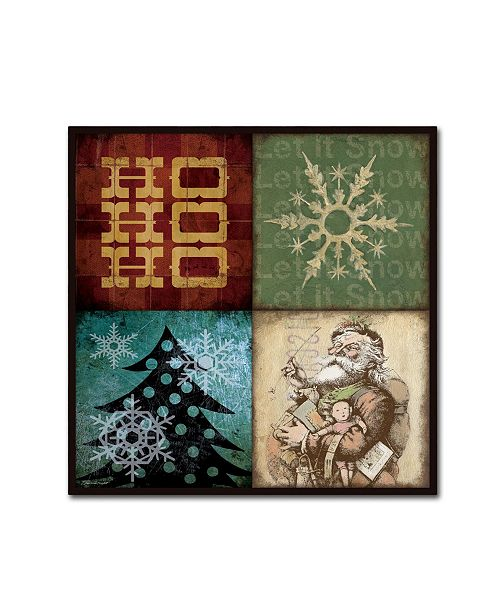 "Trademark Global Stephanie Marrott 'Holiday 4 Patch IV' Canvas Art - 24"" x 24"""