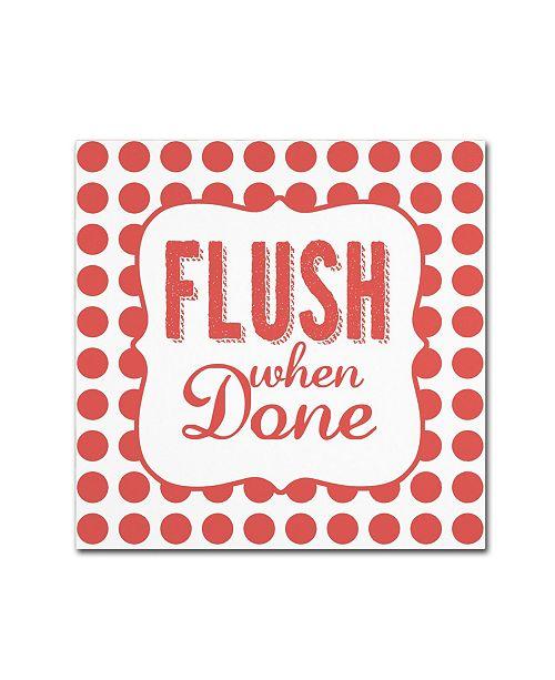 "Trademark Global Stephanie Marrott 'Flush' Canvas Art - 35"" x 35"""