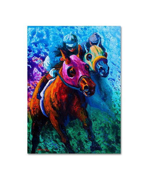 "Trademark Global Marion Rose 'Bluebloods' Canvas Art - 24"" x 32"""