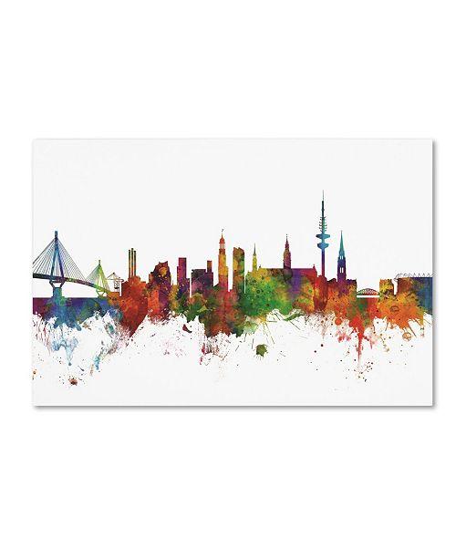 "Trademark Global Michael Tompsett 'Hamburg Germany Skyline II' Canvas Art - 22"" x 32"""