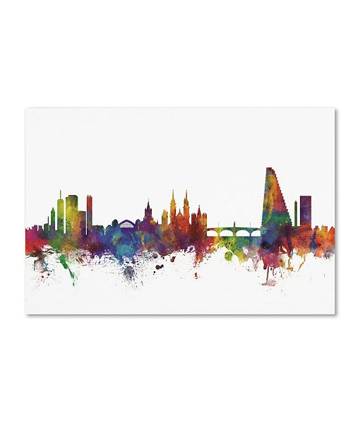 "Trademark Global Michael Tompsett 'Basel Switzerland Skyline II' Canvas Art - 22"" x 32"""