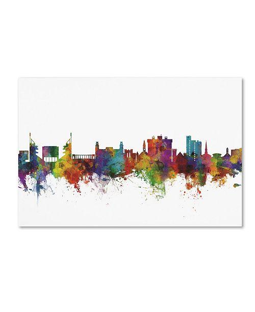 "Trademark Global Michael Tompsett 'Fayetteville Arkansas Skyline II' Canvas Art - 22"" x 32"""