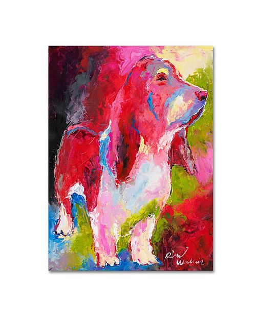 "Trademark Global Richard Wallich 'Red Head' Canvas Art - 35"" x 47"""