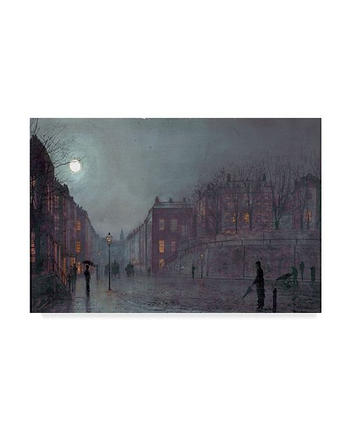 "Trademark Global John Atkinson Grimshaw 'A View of Hampstead, London 1882' Canvas Art - 30"" x 47"""