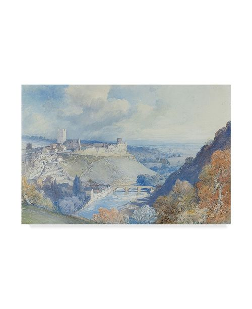 "Trademark Global William Callow 'Richmond Castle and Town Yorkshire' Canvas Art - 30"" x 47"""