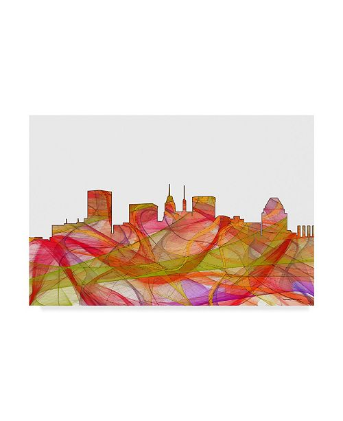 "Trademark Global Marlene Watson 'Baltimore Maryland Skyline' Canvas Art - 22"" x 32"""
