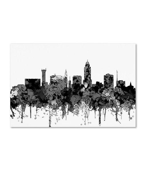 Canvas Lincoln Tech >> Marlene Watson Lincoln Nebraska Skyline Bw Canvas Art 22 X 32