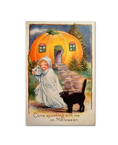 """Trademark Global Vintage Apple Collection 'Halloween Come Spooking' Canvas Art - 22"""" x 32"""""""