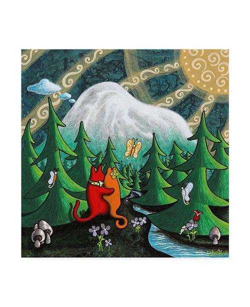"Trademark Global Jake Hose 'Love Under The Mountain' Canvas Art - 24"" x 24"""