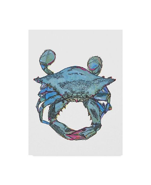 "Trademark Global Jessmessin 'Pink Claw Crab' Canvas Art - 35"" x 47"""
