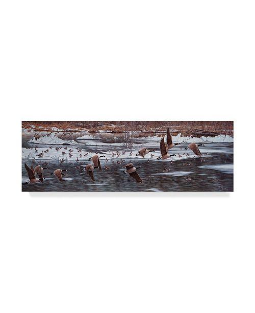 "Trademark Global Jeff Tift 'Along The Waterfront' Canvas Art - 8"" x 24"""