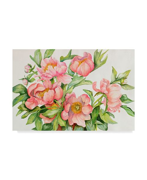 Trademark Global Joanne Porter 'Peony Spray' Canvas Art