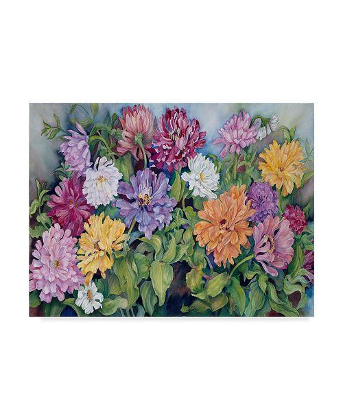 "Trademark Global Joanne Porter 'Zinnia' Canvas Art - 24"" x 32"""