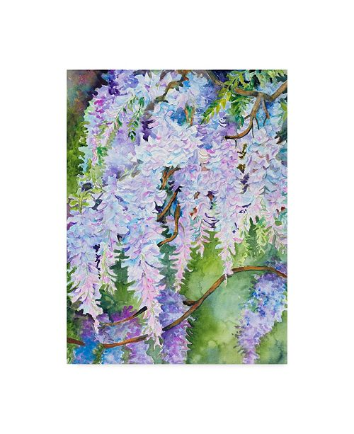 "Trademark Global Joanne Porter 'Wisteria' Canvas Art - 35"" x 47"""