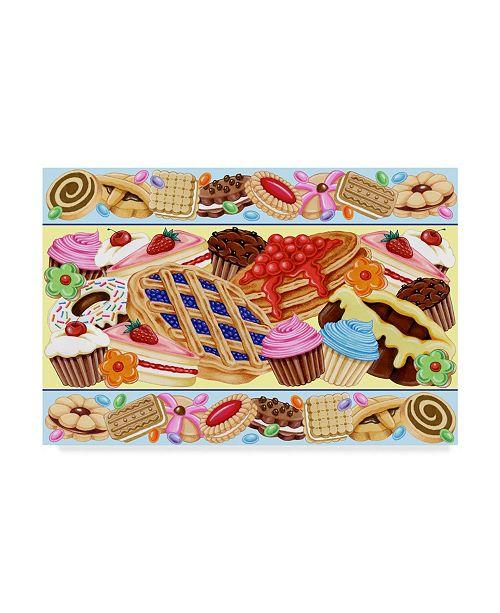 "Trademark Global Kimura Designs 'Sweets Frame' Canvas Art - 30"" x 47"""