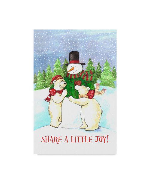 "Trademark Global Melinda Hipsher 'Snowman And Polar Share Joy' Canvas Art - 30"" x 47"""