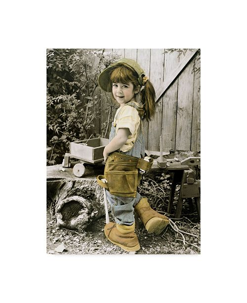 """Trademark Global Sharon Forbes 'Daddys Shoes' Canvas Art - 24"""" x 32"""""""