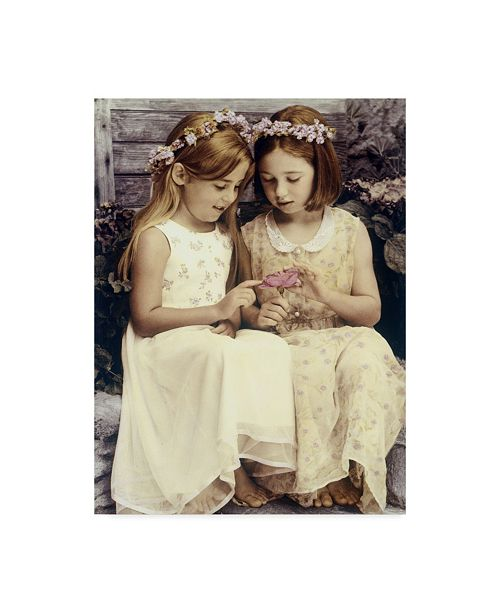"""Trademark Global Sharon Forbes 'Two Best Friends' Canvas Art - 35"""" x 47"""""""