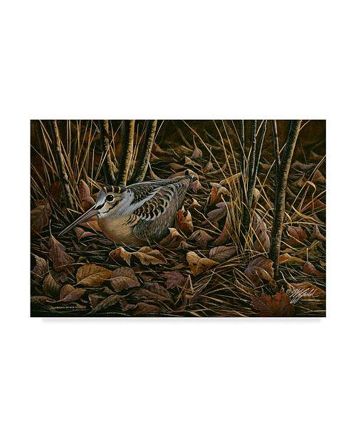 """Trademark Global Wilhelm Goebel 'Woodcock Among The Leaves' Canvas Art - 30"""" x 47"""""""