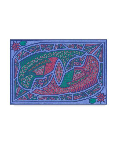 """Trademark Global Willow Bascom 'Pisces' Canvas Art - 22"""" x 32"""""""