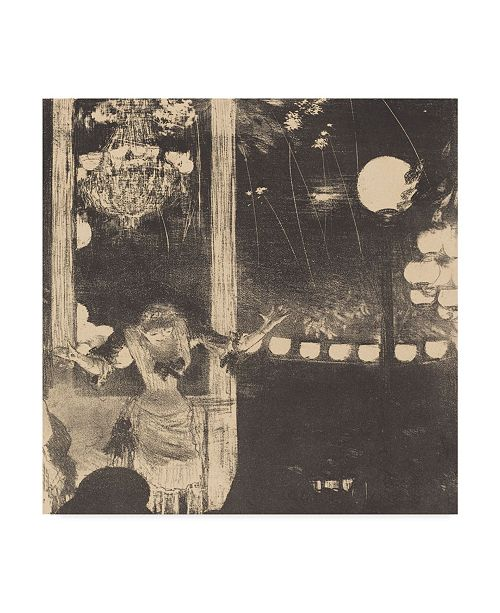 "Trademark Global Edgar Degas 'The Cafe Des Ambassadeurs' Canvas Art - 35"" x 35"""