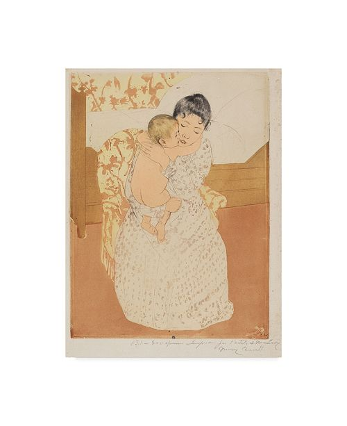 """Trademark Global Mary Stevenson Cassatt 'Maternal Caress' Canvas Art - 47"""" x 35"""""""