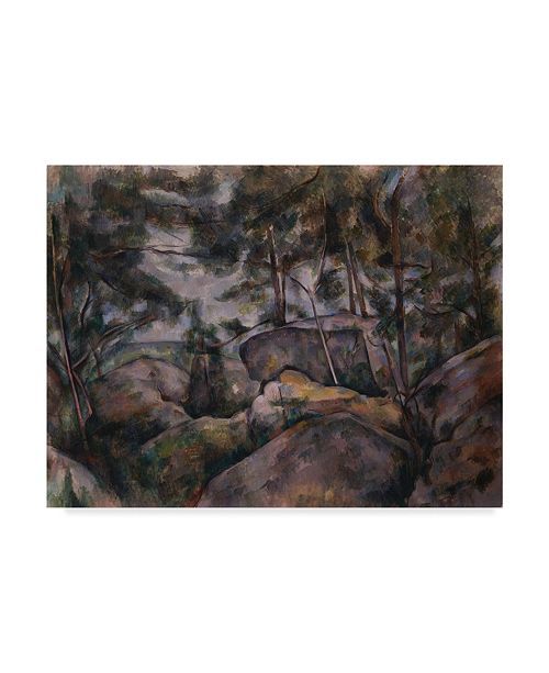 """Trademark Global Paul Cezanne 'Rocks In The Forests' Canvas Art - 32"""" x 24"""""""